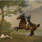 George-Stubbs Portrait of Baron de Robeck, Riding a bay hunter 1791