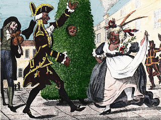 Period print of the Jack in the Green Parade