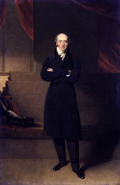 A full-length portrait of George Canning