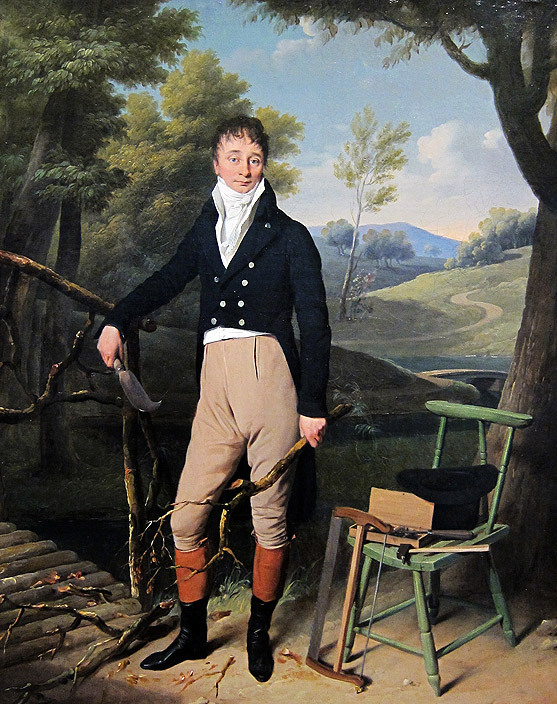 Portrait of a standing man in the country
