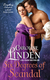 Cover image for SIX DEGREES OF SCANDAL by Caroline Linden