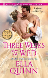 Cover image for THREE WEEKS TO WED by Ella Quinn