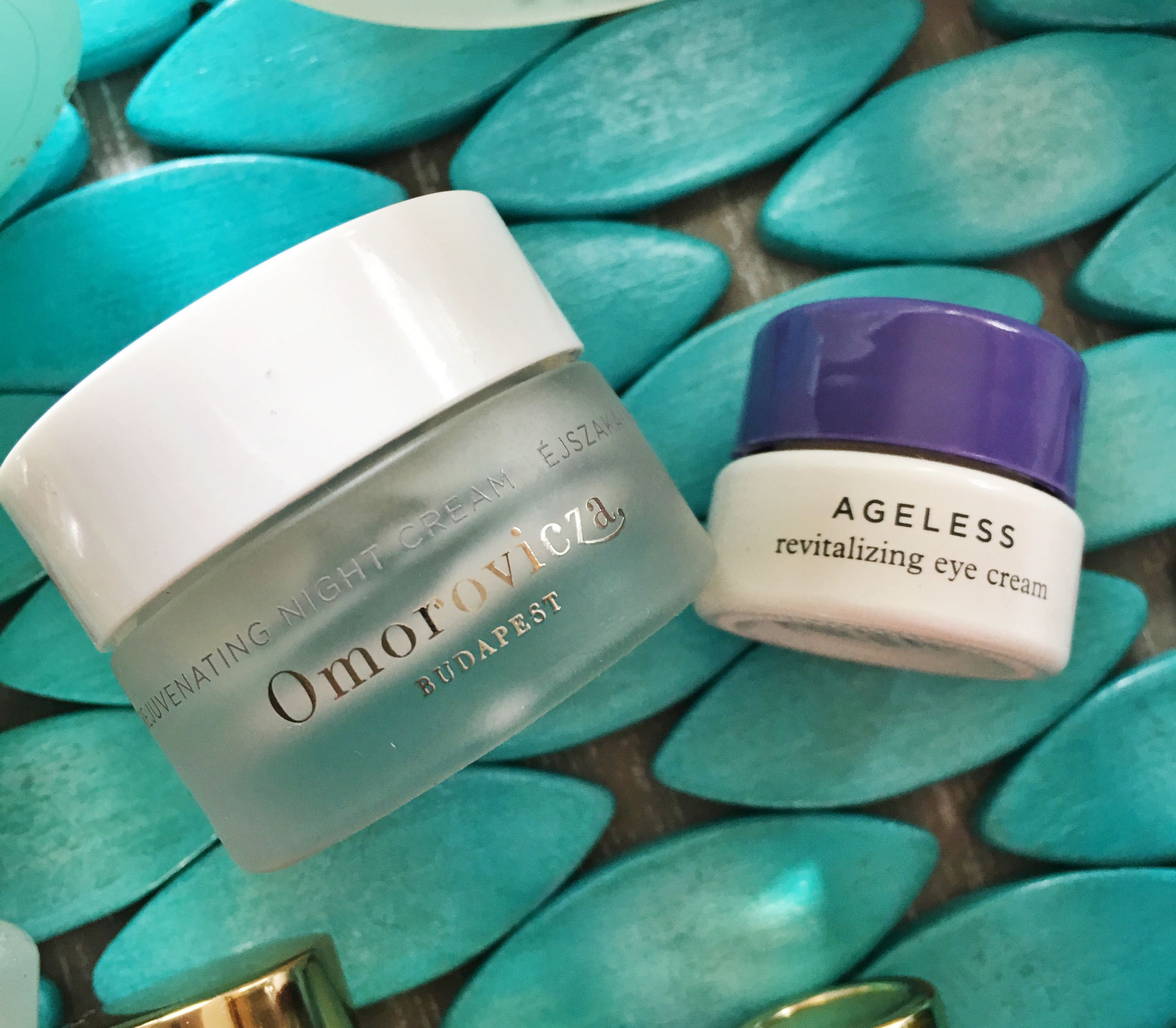 Omorovicza Rejuvenating Night Cream, Tatcha Ageless Revitalizing Eye Cream