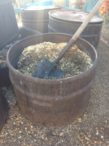"My supplement ""cooking"" pot for the pigs."