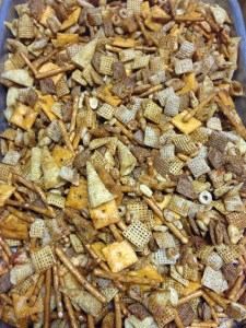 Oh, chex mix, how I love you.