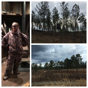 I went white tail buck deer hunting. It was so different from hunting here!