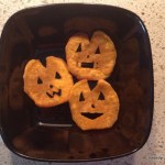 Sweet Potato Jack-O-Lantern Fries