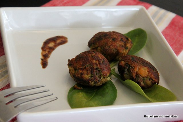 Spinach & beans patty