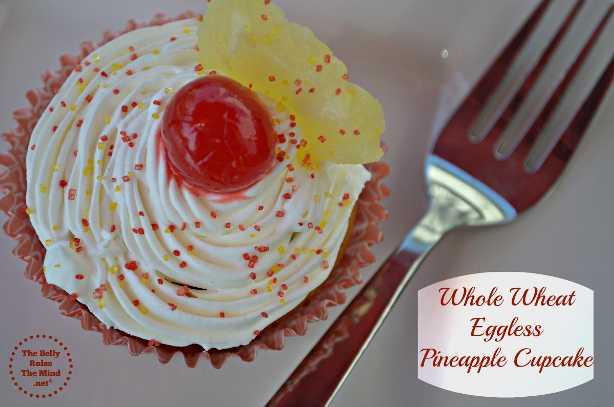 whole wheat pineapple cupcake