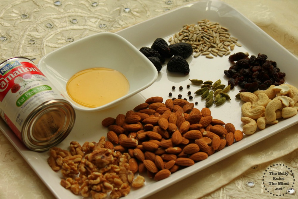 Ingredients for Dry fruit Popsicle
