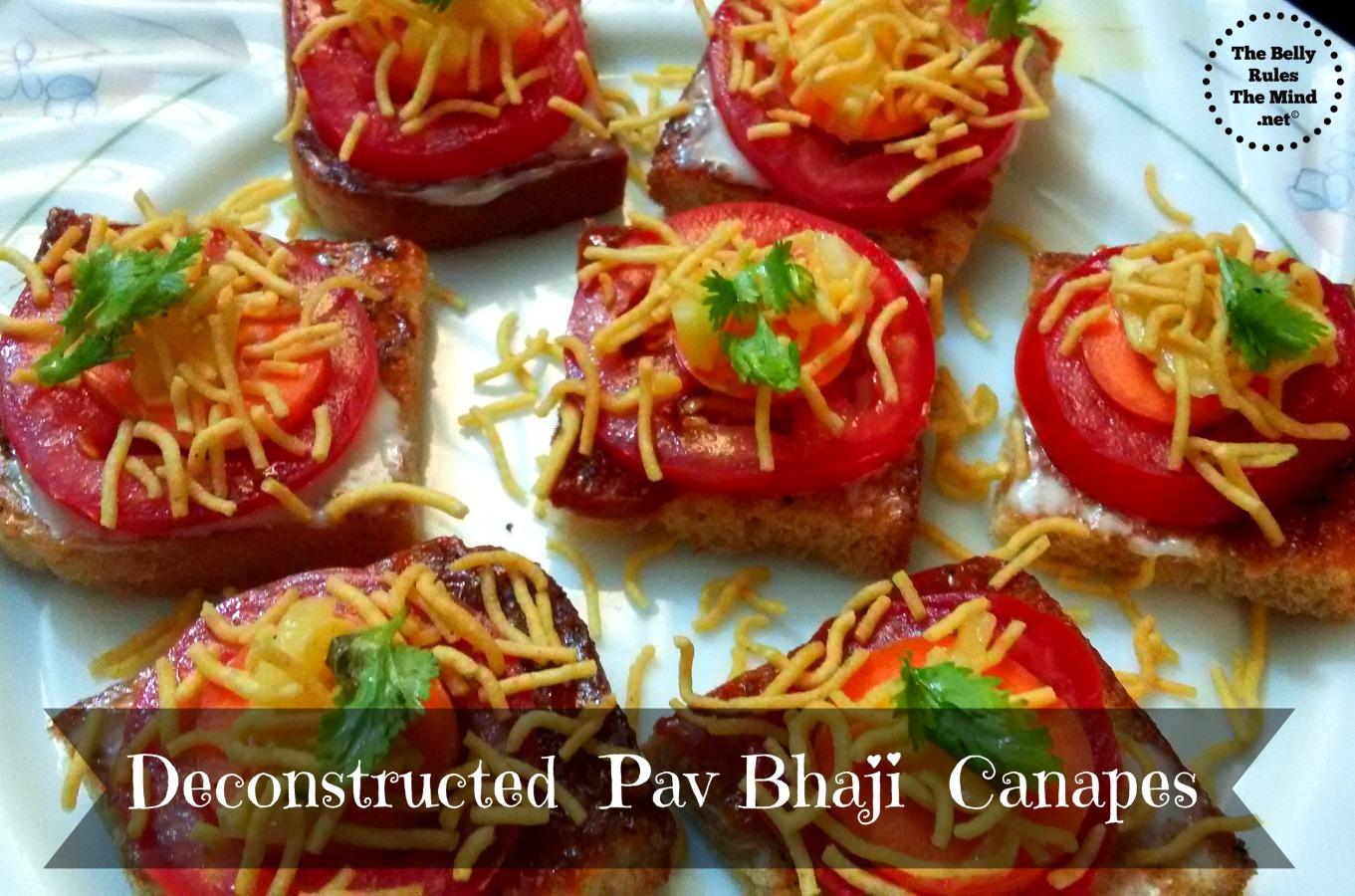 Deconstructed Pav Bhaji Canapes.