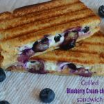 Grilled Blueberry Cream-Cheese sandwhich