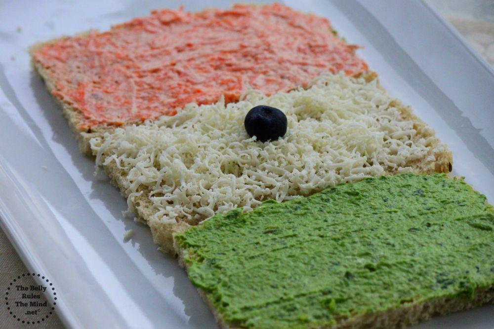tiranga sandwich spread