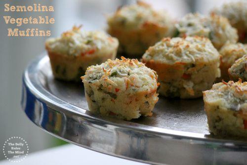 Semolina Vegetable Muffins