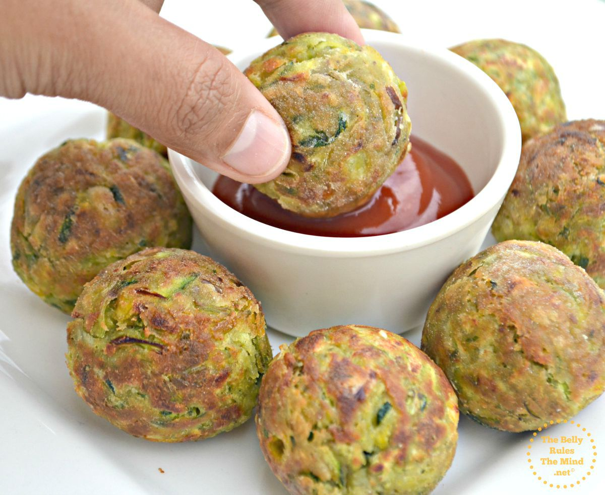 Zucchini tots made in appe pan