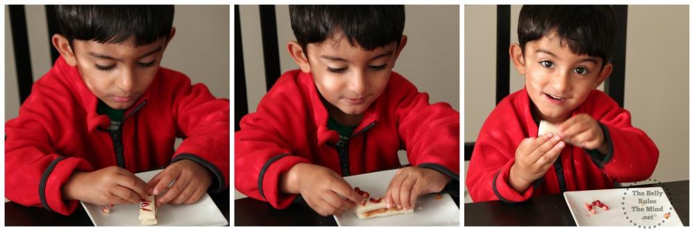A decorating his Dandiya