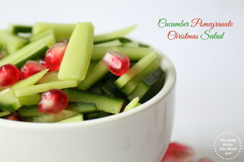 Cucumber Pomegranate Christmas Salad