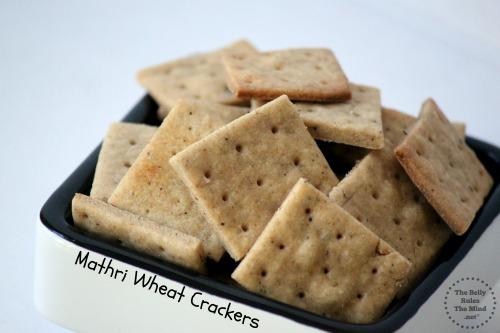 Mathri Wheat Crackers