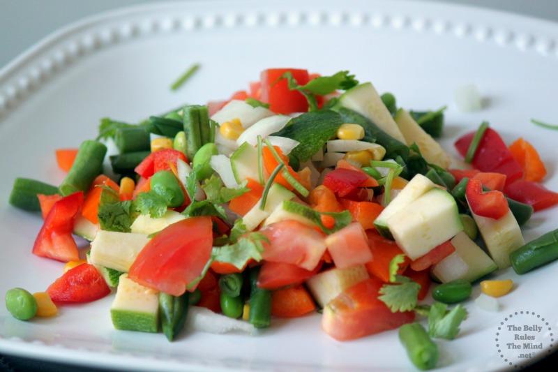 Mix veg portion