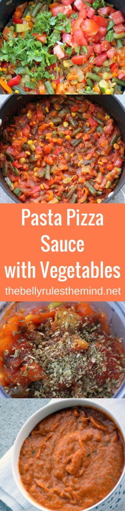 Pasta Pizza Sauce with Vegetables