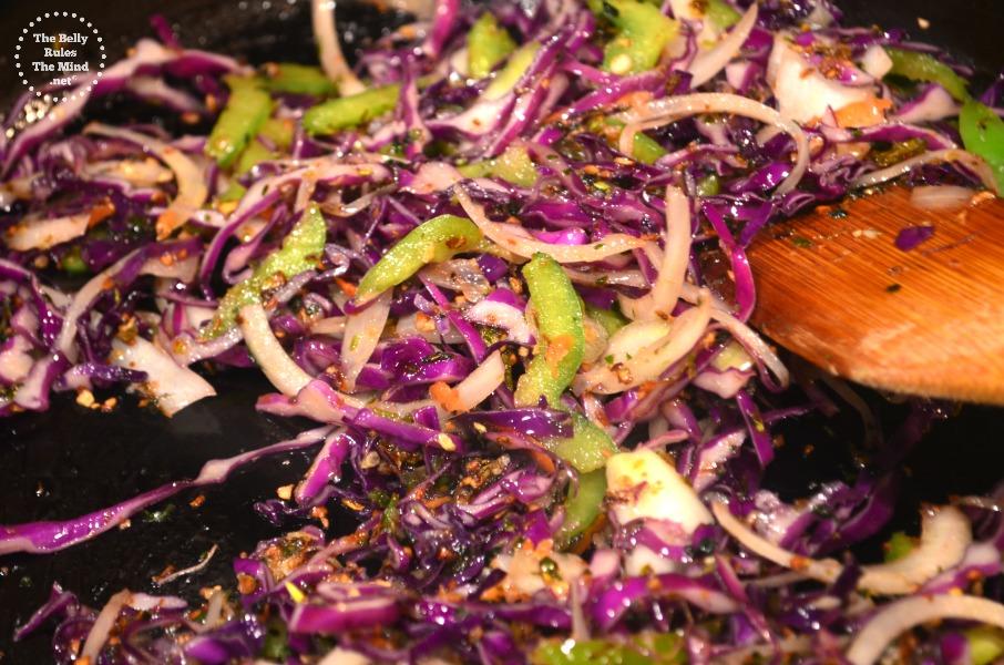 Veggies in the wok