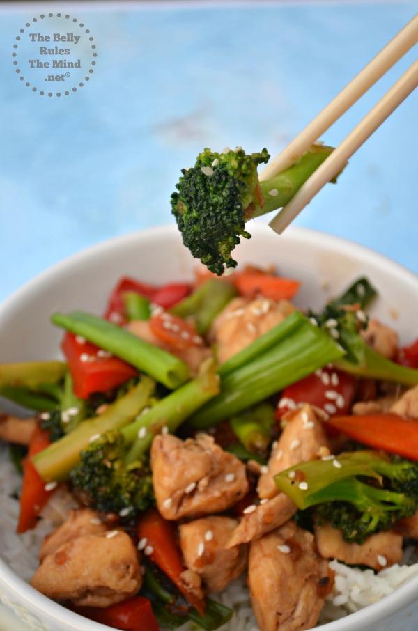 Quick &Easy Stir-fry Teriyaki chicken