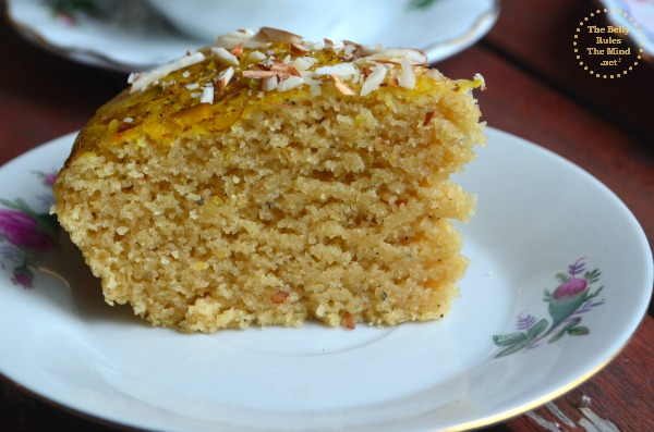 Pressure Cooker  Semolina cake