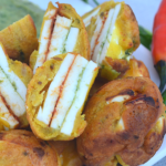Stuffed Paneer / Tofu Pakoda in appe pan No Fry