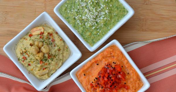 Home-made Hummus Trio