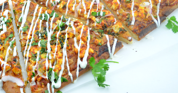 Quick & Easy Paneer Tikka Pizza