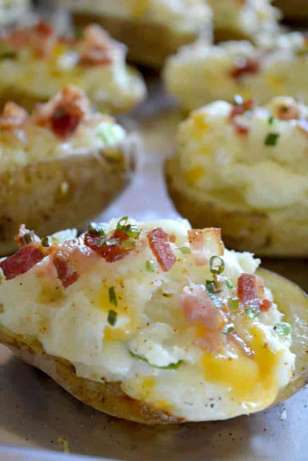 Grilled Twice Baked Potatoes from thebestblogrecipes.com #bbq
