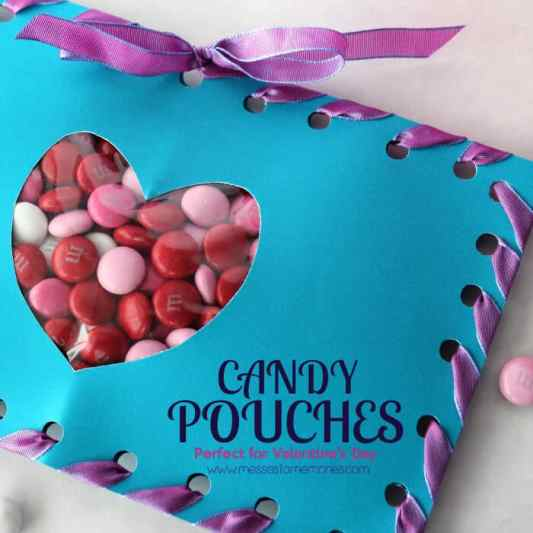 DIY Candy Pouches featured on 25 Valentine's Day Crafts from The Best Blog Recipes