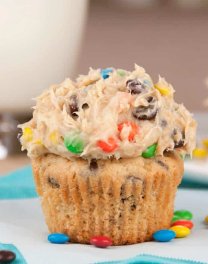 Monster Cookie Dough Cupcakes - The Best Blog Recipes