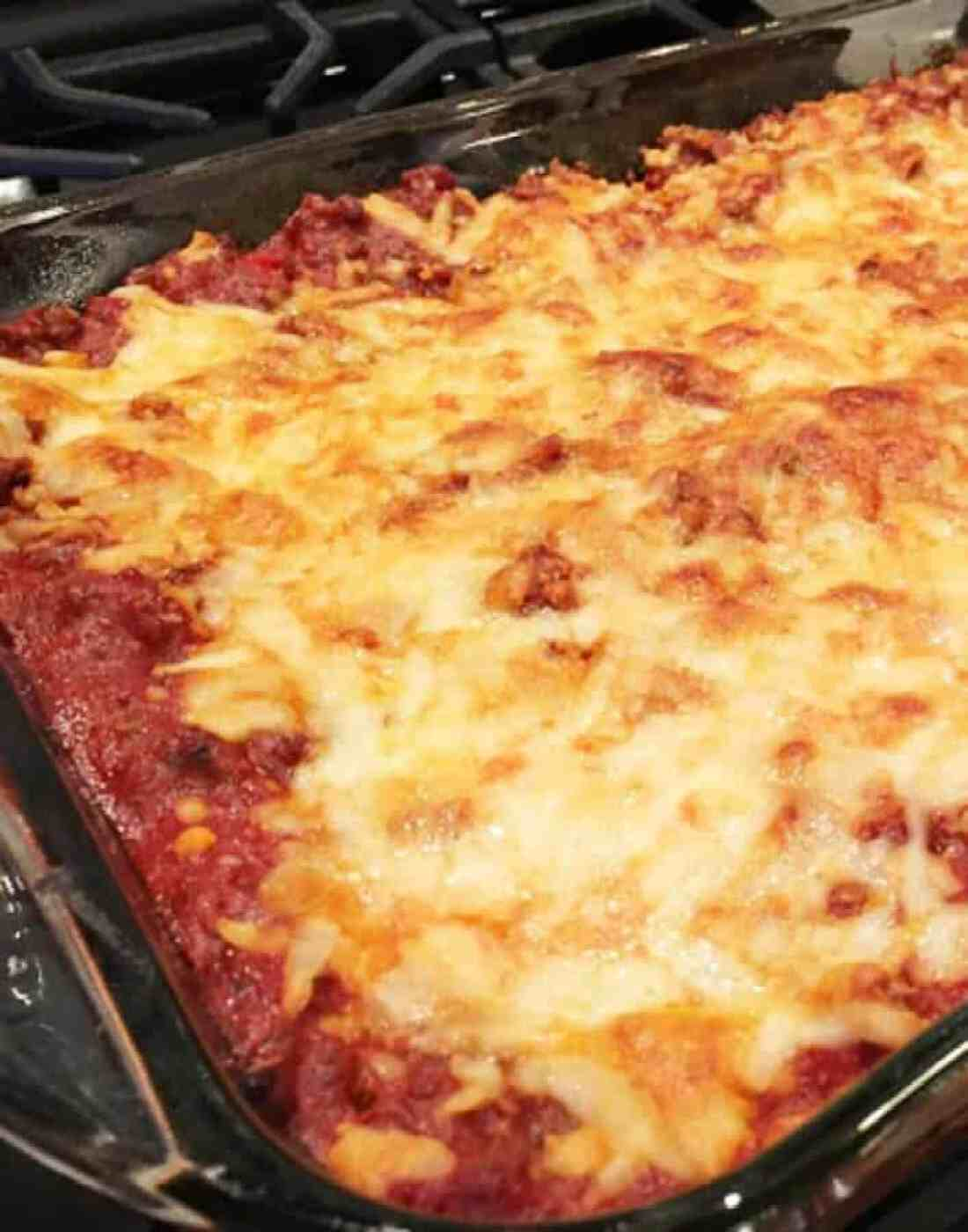 This Baked Spaghetti Casserole from Merry About Town is a simple ...