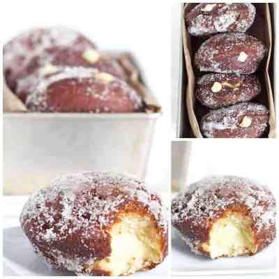 Vanilla Cream Filled Donuts