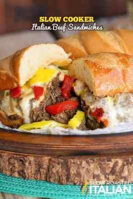 Slow Cooker Italian Beef Sandwiches