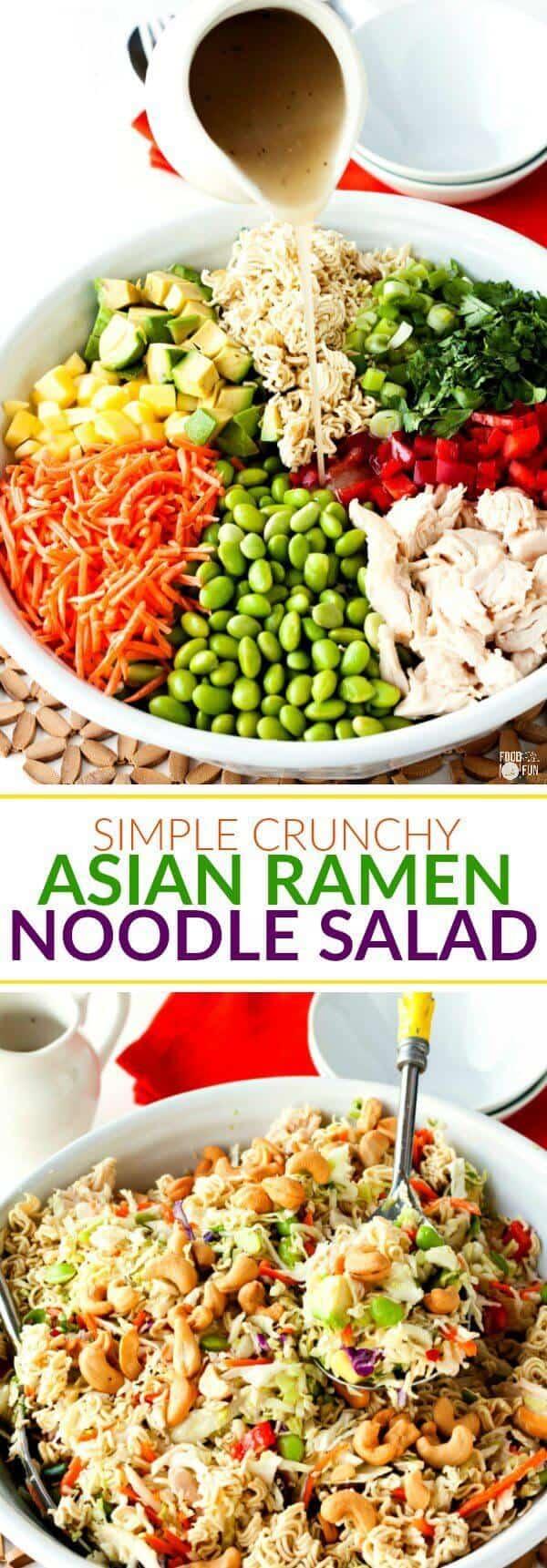 Simple Crunchy Asian Ramen Noodle Salad - The Best Blog Recipe