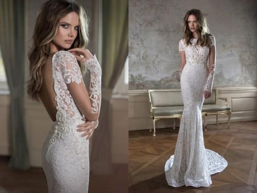 Medium Of Lace Long Sleeve Wedding Dress