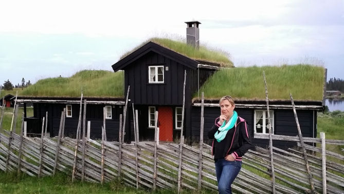 House with grass roof