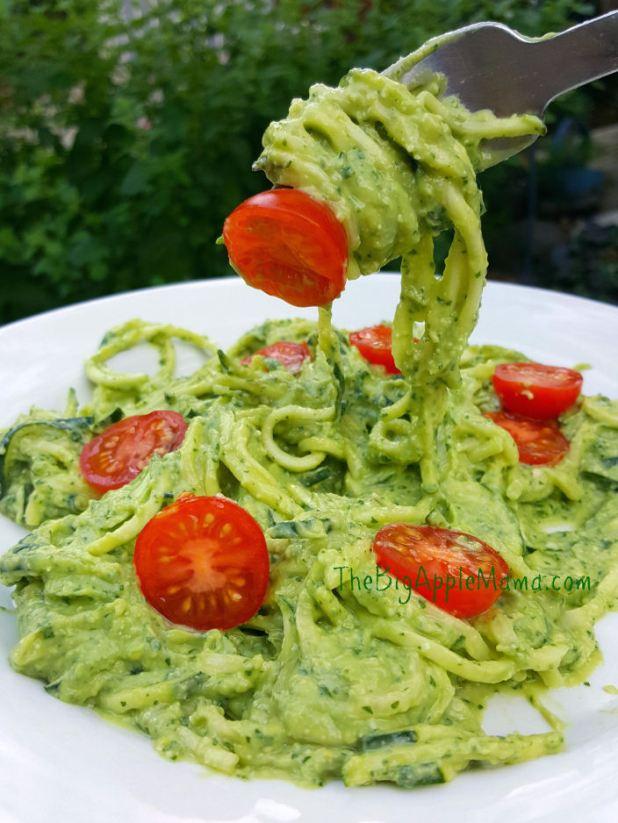 pesto with zucchini