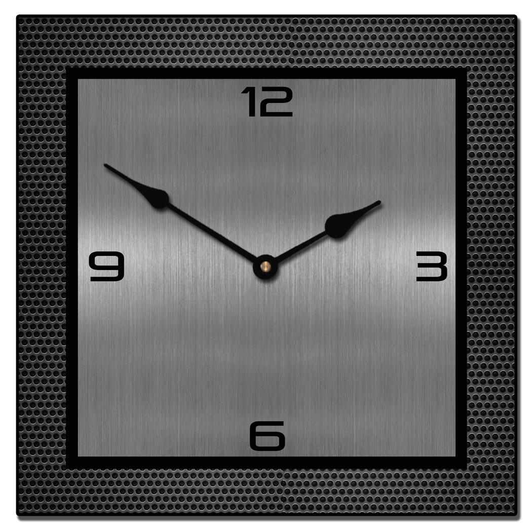 Witching Logo Square Metal Sm Heavy Metal Square Metal Wall Clocks Collection Big Clock Store Wall Clocks Online Wall Clocks India Online Large Square Wall Clock furniture Classy Wall Clocks