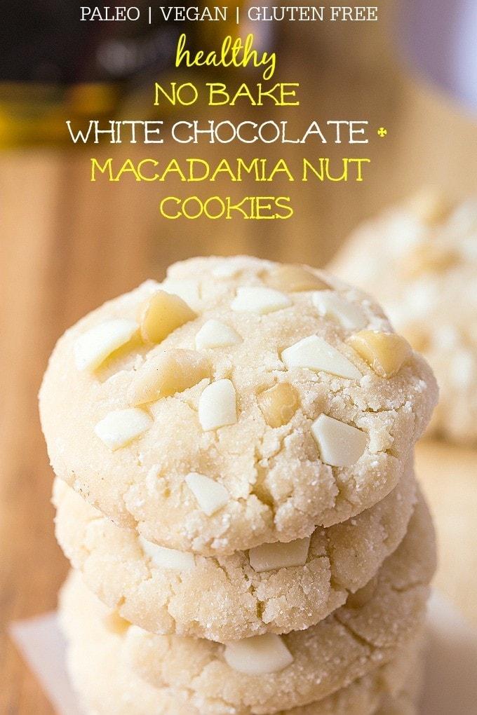 Paleo White Chocolate Thumbprint Cookies