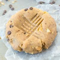 Healthy No Bake Giant Paleo Cookie For One