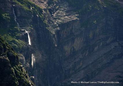 Waterfall above Gunsight Lake