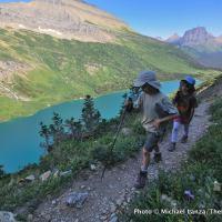 Gla5-49 Nate and Alex, Gunsight Pass Trail, Glacier NP copy