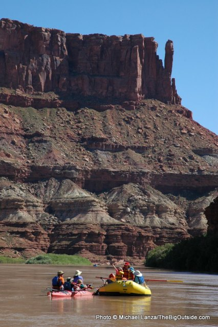 Floating the Green River through Stillwater Canyon in Canyonlands National Park.