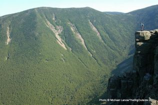 Mark Fenton atop Bondcliff on a 32-mile dayhike through New Hampshire's White Mountains.