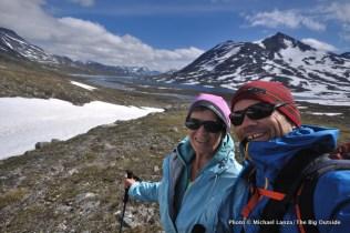 Trekking up the Langvatnet valley.