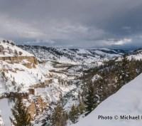 Tower Fall Ski Trail, Yellowstone National Park.