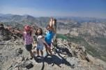 Alex, Adele, Mae atop Norton Peak, Smoky Mountains, Idaho.